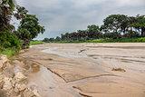 Kidepo river in Uganda