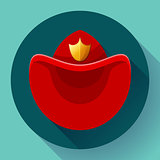 Firefighters hat symbol icon Vector for video, mobile apps.