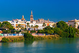 Quay of Guadalquivir and Giralda, Seville , Spain