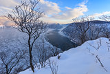Danube Gorges in winter, Romania