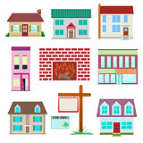 House set , colourful home icon collection.