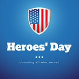 Heroes Day USA banner set