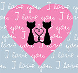 Vector Valentine Cats