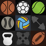 Set sport background, vector illustration.