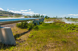 Geothermal plant pipes