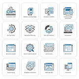 Set of Business and Marketing Flat icons