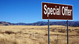 Special Offer brown road sign