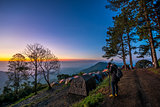 twilight and photographer on monson viewpoint at doi angkhang mo