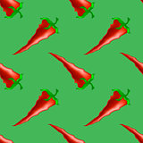 Hot Red Peppers Seamless Pattern