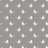 White Geese Seamless Pattern