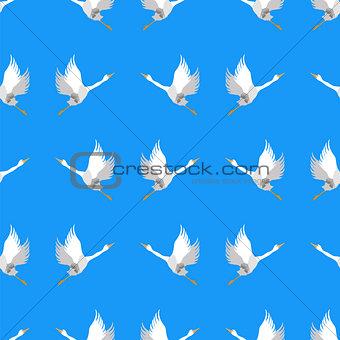 Grey Geese Seamless Pattern