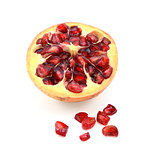 Cut half pomegranate with seeds removed