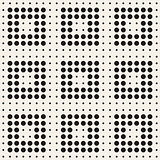 Stylish Minimalistic Halftone Grid. Vector Seamless Black and White Pattern