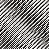 Hand Drawn Triangle Waves. Vector Seamless Black and White Pattern.
