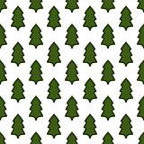 Christmas fir tree seamless pattern