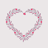 Romantic heart decoration