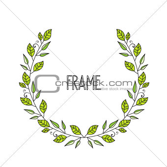 Frame branches with leaves