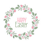 Vector Easter frame