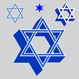 Vector illustration Star of David