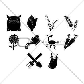 agricultural icon set