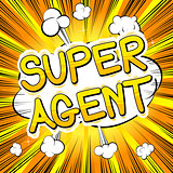 Super Agent - Comic book style word.
