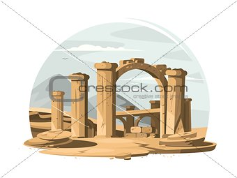 Architectural ruins old