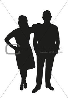 a couple body silhouette vector