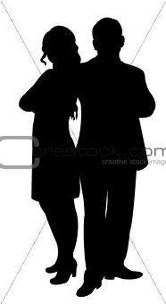 a couple body silhouette vector