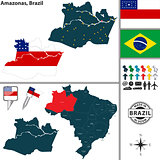 Map of Amazonas, Brazil
