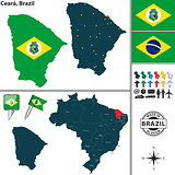 Map of Ceara, Brazil