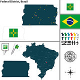 Map of Federal District, Brazil