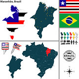 Map of Maranhao, Brazil