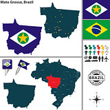 Map of Mato Grosso, Brazil