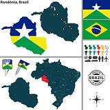 Map of Rondonia, Brazil