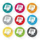Colorful discount price bubble set