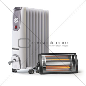 Oil and halogen or infrared heaters .Heating devices and climate