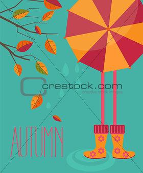 Autumn season in flat style