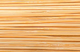 Bamboo sticks stacked next to each other