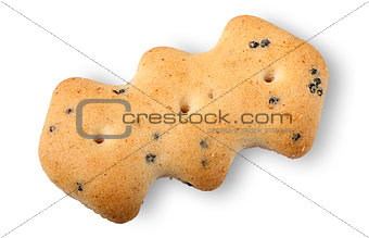 Single crackers with poppy seeds
