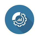 Set Up Analytics Icon. Flat Design.