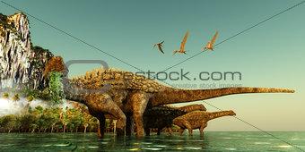Ampelosaurus Dinosaurs