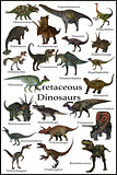 Cretaceous Dinosaurs with Border