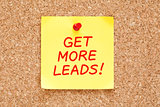 Get More Leads On Yellow Sticky Note