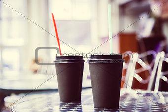 Black Paper Cup close-up