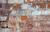 Vintage endered brick wall texture background