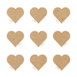 Craft paper hearts cut outs