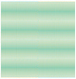Raster dots colored, background green beige, vector.