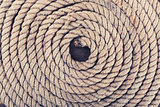 old weathered ship rope