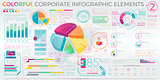Colorful Corporate Infographic Elements