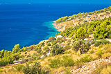 Scenic coast of Brac island